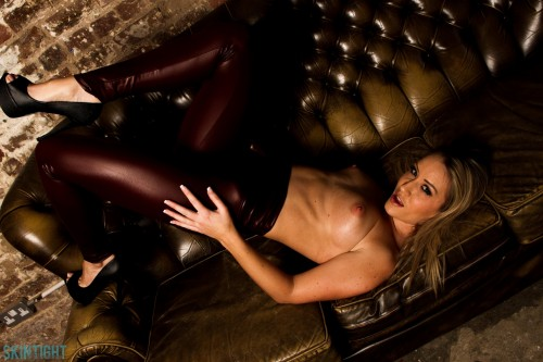 Candice Red Leather