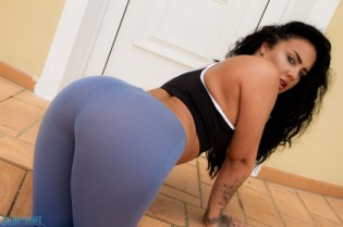 Olivia Paige Blue Leggings